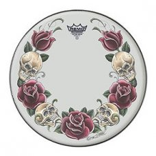 "Rumpukalvo Tattoo Skyn 22"" Rock and Roses valkoinen"