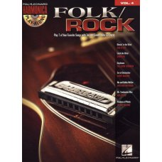 HAL LEONARD FOLK ROCK HARMONICA BK/CD