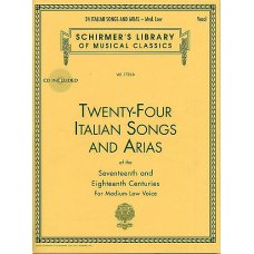 24 ITALIAN SONGS & ARIAS BK+CD MED LOW