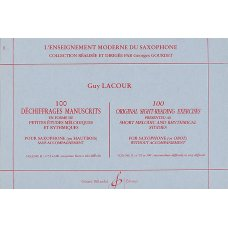 LACOUR: 100 DECHIFFRAGES MANUSCRITS 2  SAX