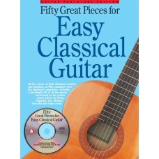 50 GREAT PIECES FOR EASY CLASSICAL GUITAR TAB BK+CD