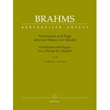 BRAHMS VARIATIONS & FUGUE ON A THEME BY HANDEL PIANO