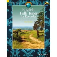 ENGLISH TUNES FOR RECORDER BK+CD, 62 TRADITIONAL PIECES