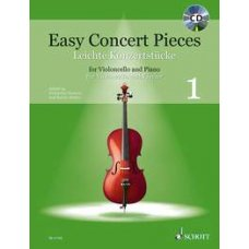 EASY CONCERT PIECES FOR CELLO 1 BK+CD