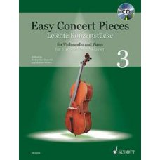 EASY CONCERT PIECES FOR CELLO & PIANO 3 BK+CD
