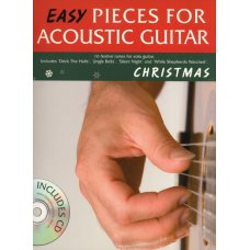 EASY PIECES ACOUSTIC GUITAR CHRISTMAS TAB/BK/CD