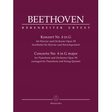 BEETHOVEN CONCERTO NO.4 IN G MAJOR OP.58 PIANO