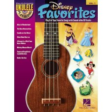 DISNEY FAVES FOR UKULELE BK+CD