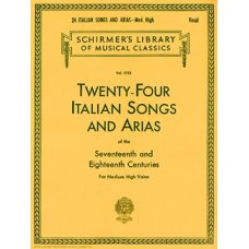24 ITALIAN SONGS&ARIAS MED-HIGH VOICE