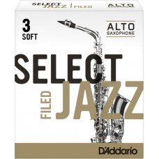 Alttosaksofonin lehti nro 3S FILED Jazz Select 10kpl aski