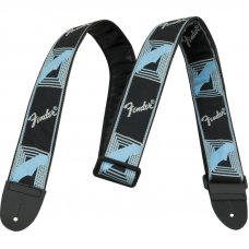 Kitarahihna Fender Monogrammed kangas Black/Light Grey/Blue