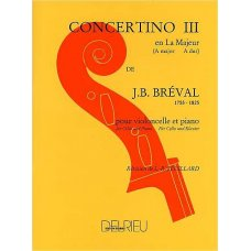 Breval, J.B: Concertino 3 for violoncello