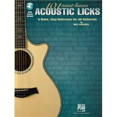101 MUST-KNOWN ACOUSTIC LICKS GUITAR BK+AUDIO ACCESS