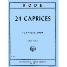 Rode: 24 Caprices for Viola
