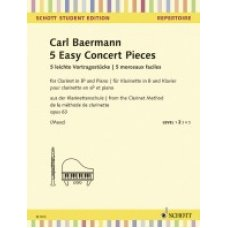 BAERMANN 5 EASY CONCERT PIECES FOR CLARINET