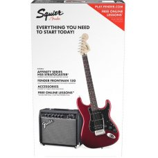 Sähkökitarapaketti Squier Affinity Strat Pack HSS IL Candy Apple Red
