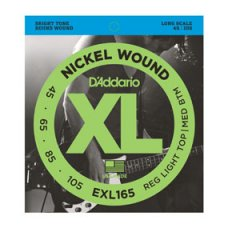 Sähköbasson kielisarja 045-105 D'Addario EXL165 Custom Light